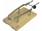 VICE PORT HAM IN STAINLESS STEEL WITH BASE IN BEECH WOOD