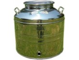 SANSONE STAINLESS STEEL CONTAINER LT. 30 FOR OIL, WINE, HONEY AND BEER