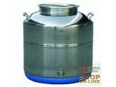 SANSONE STAINLESS STEEL CONTAINER LT. 50 LOW-MOD. EUROPE WELDED