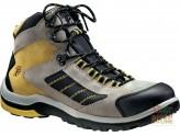 HIGH SHOE IN CRUST TIP AND FOIL POLYURETHANE SOLE TRIPLE DENSITY COLOR YELLOW GREY