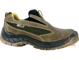 SHOE WITH ELASTIC SLEEP ON THE CRUST WITH THE TIP AND LAMINA OLIVE GREEN TG 39 47