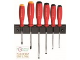 SERIES SCREWDRIVERS PB SWISS TOOLS BAUMANN 6 PIECES WITH HOLDER ART. 8244