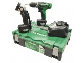 SET DRILL DRIVER HITACHI DS10DFL WITH 2 BATTERIES BATTERY LI-ION 10.8 V AND TORCH