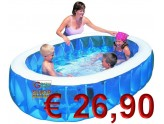 BESTWAY INFLATABLE SWIMMING POOL OVAL FOR CHILDREN CM.234x152x51h. MOD. 54066