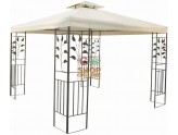 BLINKY THE GAZEBO IN DECORATED METAL CURTAIN BEIGE CM.300X300