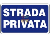 SIGN SIGNAL PRIVATE ROAD MM. 300X200