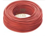 ELECTRIC CABLE UNIPOLAR SECTION 1 X 1.5 RED MT. 100