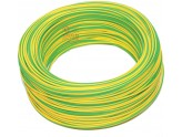 ELECTRIC CABLE UNIPOLAR SECTION 1 X 2.5 YELLOW GREEN MT. 100