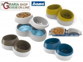 Bowl double feed and reserve the water Bama Ciottolotto Medium cm. 33x20x9h