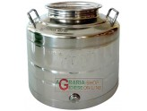 STAINLESS STEEL CONTAINER FOR FOOD LT. 30 HEAVY TYPE WITH THE BOTTOM WELDED