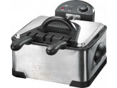 Electric deep fryer clatronic was also presented FR3195 with double bowl stainless steel watt. 2 x 2000