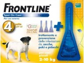 FRONTLINE ANTI-PARASITE, FLEA AND TICK SPOT-ON 2 - 10 KG. 4 PIPETTES