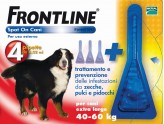 FRONTLINE SPOT-ON PIPETTES PARASITICIDES FOR DOGS KG.40 - 60 EXTRA LARGE XL 4 VIALS
