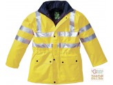 JACKET IN SYNTHETIC FABRIC IS NOT BREATHABLE WITH PADDING AND REFLECTIVE BANDS EN 471