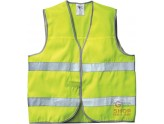 VEST HIGH VISIBILITY POLYESTER WITH REFLECTIVE BANDS EN 471 YELLOW ONE SIZE