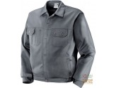 JACKET 100% COTTON PRE-SHRUNK GR 250 MULTIPOCKETS STITCHING IN CONTRAST COLOR GREY