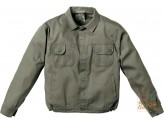 JACKET 100% COTTON PRE-SHRUNK GR 250 MULTIPOCKETS STITCHING IN CONTRAST COLOR KHAKI