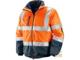 JACKET HIGH VISIBILITY FABRIC GB TEX BANDS OF RETRO-REFLECTIVE 3M COLOR ORANGE BLUE