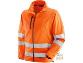 JACKET IN POLYESTER HV WITH THE HINGE TO THE BOTTOM BANDS OF 3M 8906 EN 471 ORANGE TG S XXL